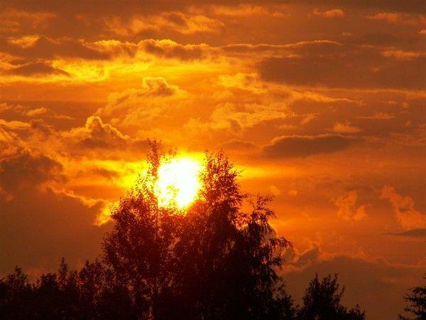Fond d'écran, coucher de soleil